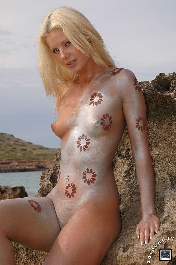 Body paint nude girls will
