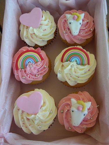 unicorn, rainbow, heart  cupcakes ✨🌈💖 @tessmcx