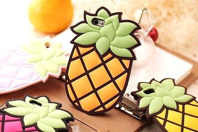 3D Cute Cartoon Pineapple Ananas Fruit Silicon Cover Case for Apple iPhone 4 4S | eBay