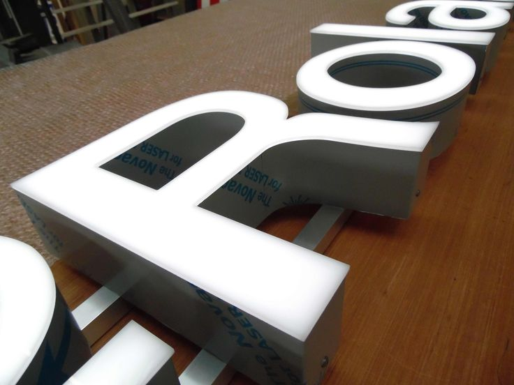 Built up metal letter with acrylic face #signs #letters