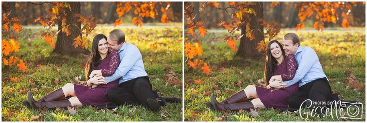 Beautiful Morton Arboretum Fall Engagement Session by Photos by Gisselle  #engagementinspiration #fallengagementsession http://www.gisselleblog.com/sarah-brian-engaged-lisle-il/