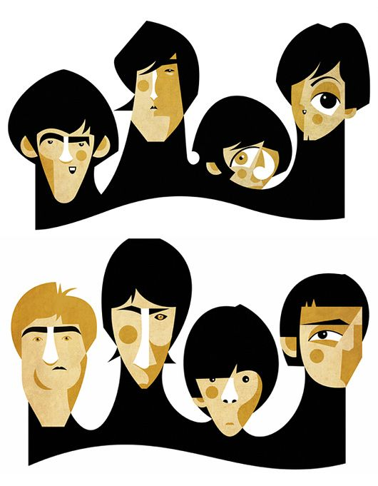 The Beatles and The Who by Fabio Corazza: The Beatles, Band, Thebeatles, Caricature, Beatles The, Beatles George