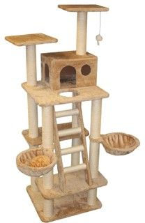 "72"" Casita Cat Tree - traditional - pet care - by Majestic Pet Products"