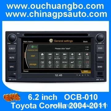 Ouchuangbo S100 6.2 inch HD touchscreen special Toyota Corolla 2004-2011 car entertainment system - Bossgoo.com