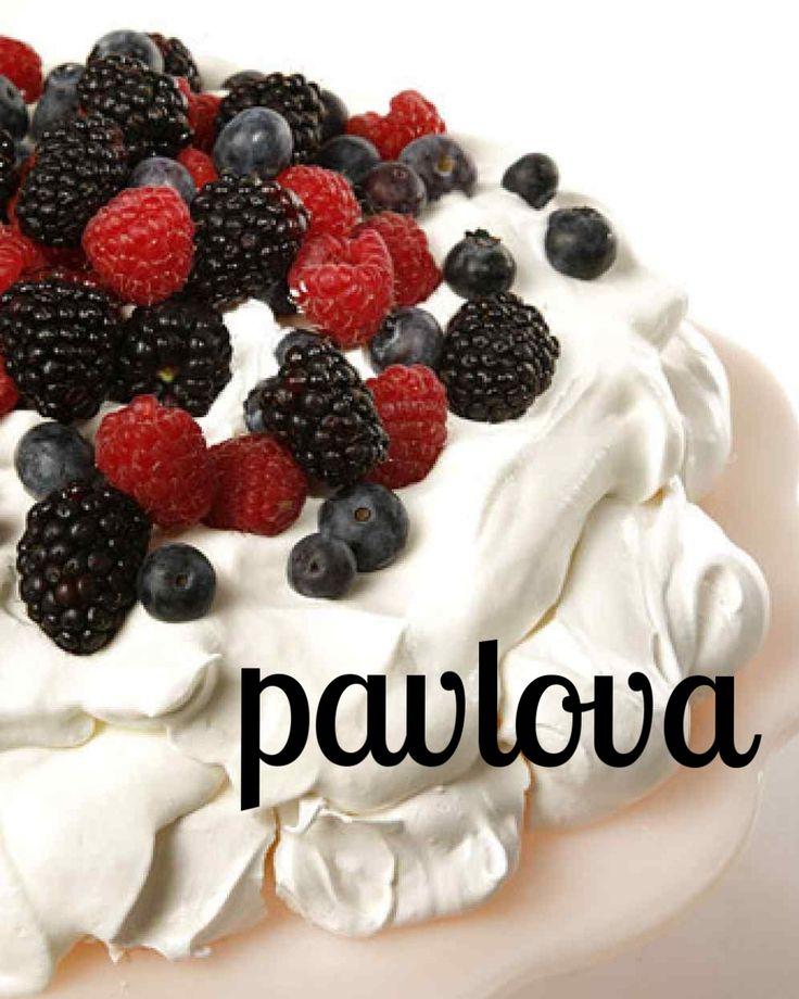 Pavlova | Martha Stewart Living - This recipe for pavlova, a light meringue dessert, comes courtesy of actor Geoffrey Rush.
