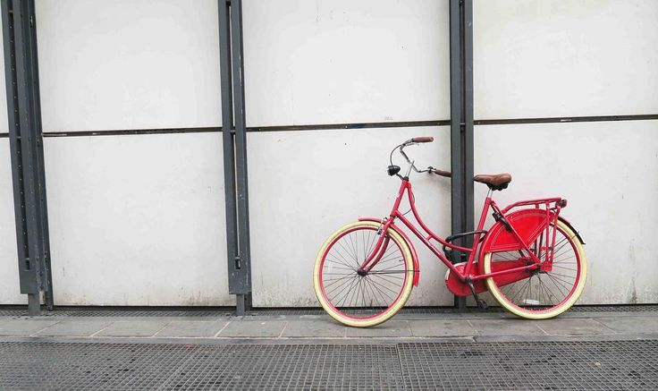 A beautiful bike that crossed our path in Paris. We had to take a  picture of this vintage cutie! # #Paris #Vintagebike