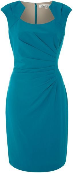Kenneth Cole ~ Shift Dress with Ruched Side Detail
