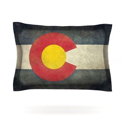 KESS InHouse State Flag of Colorado by Bruce Stanfield Featherweight Pillow Sham Size: King, Fabric: Cotton