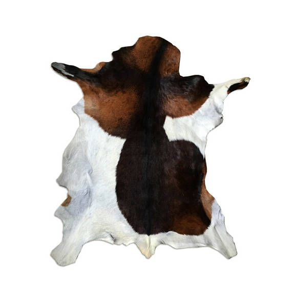 Cowhide Rug Small Area Rug Exotic Cow Hide Brown White Black