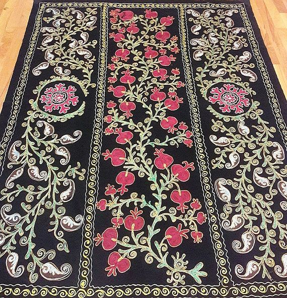Uzbek Suzani from Bukhara .Tablecloth Wall hanging