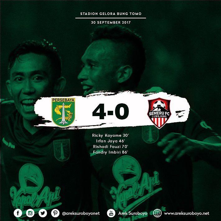 FT Persebaya Surabaya 4-0 Semeru FC  Ricky Kayame 30'  Irfan Jaya 46'  Rishadi Fauzi 70'  Fandry Imbiri 86'   #PersebayaDay #Bonek#Persebaya  #ArekSuroboyo #GreenForce #PersebayaEmosiJiwaku #KamiHausGolKamu #PersebayaJuaraLiga2