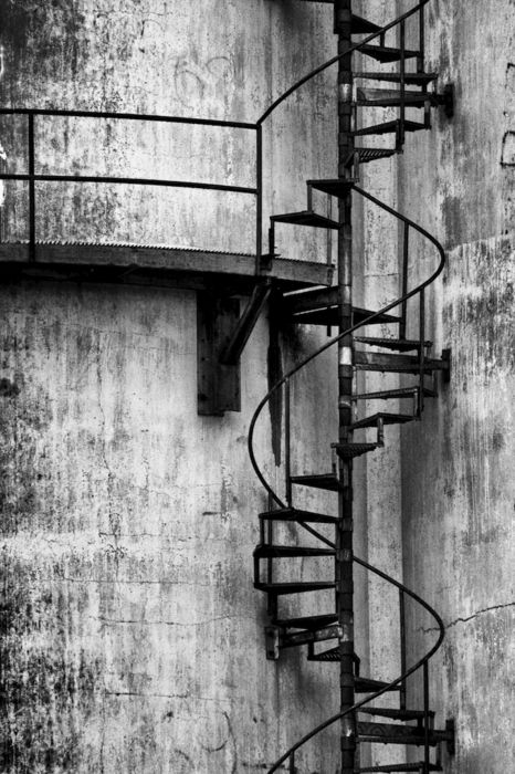 I love spiral staircases