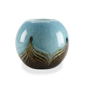 Attractive and functional ball vase features intricate blown glass detailing to truly make it the star of any room it graces. Use to display your favourite flowers or a tealite!  19.99
