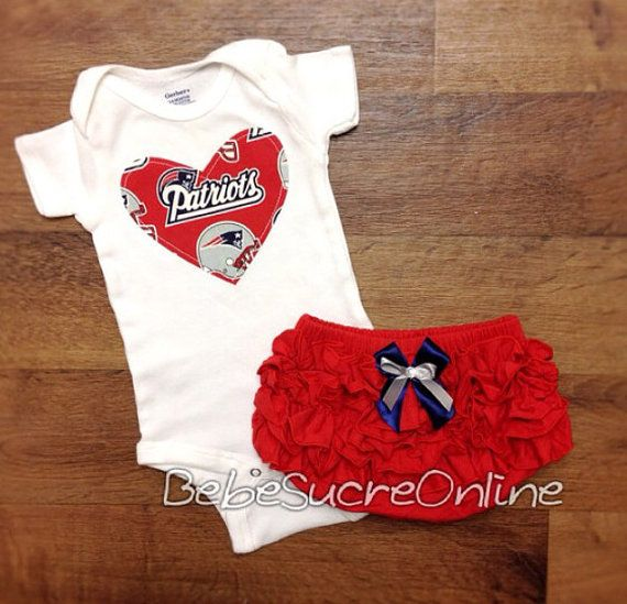 New England Patriots Game Day Outfit by BebeSucreOnline on Etsy  I so want this for Haven!!