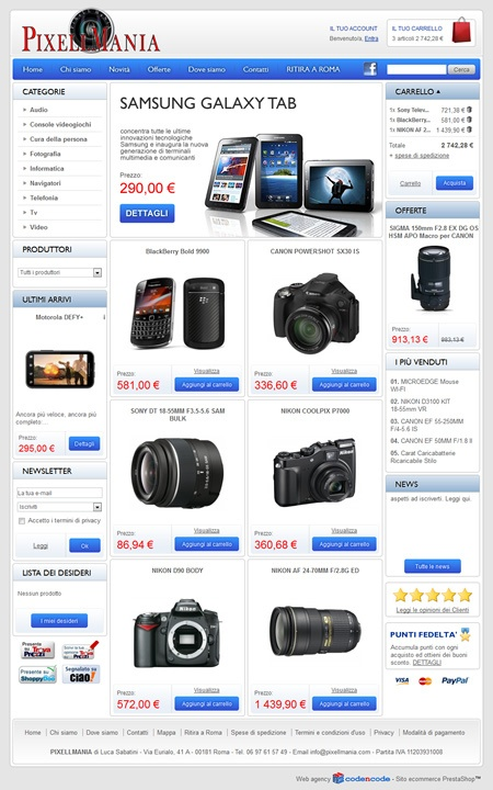 PIXELLMANIA | E-commerce Elettronica - www.pixellmania.com