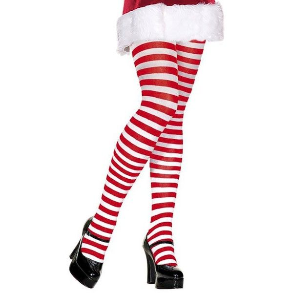 Amazon.com: Red and White Striped Tights Red White Striped Tight Elf... ($13) ❤ liked on Polyvore featuring intimates, hosiery, tights, christmas stockings, striped tights, red pantyhose, striped stockings and red tights