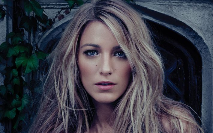 Download wallpapers Blake Lively, American actress, portrait, blonde, fashion model, photoshoot