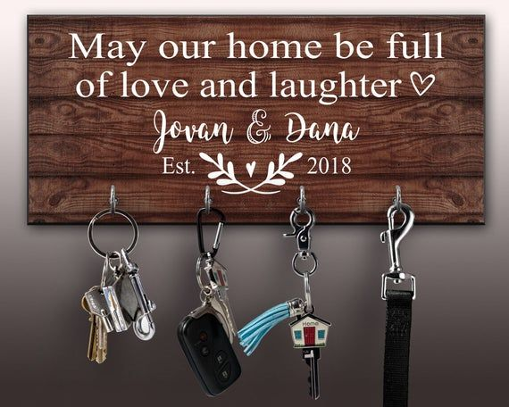 Personalized Key Ring Holder Custom Key Holder For Wall Etsy Wall Key Holder Personalized Key Holder Key Hanger