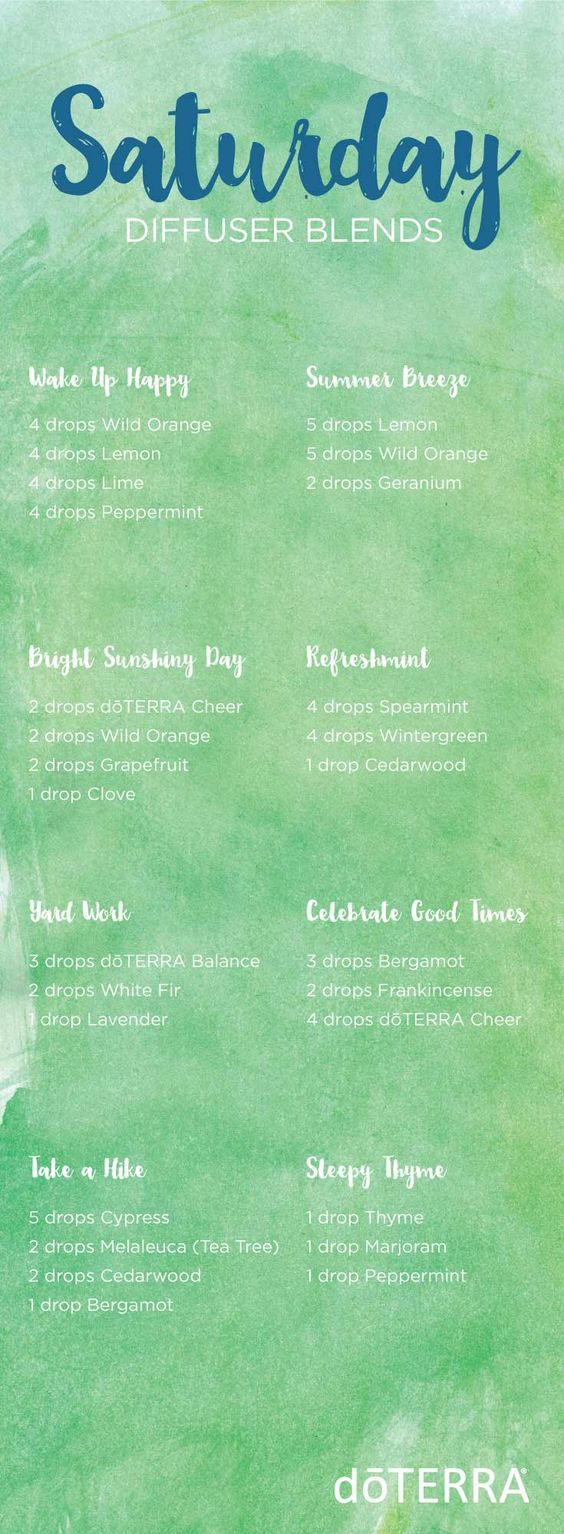 doTERRA essential oil diffuser blends for Saturdays! | doTERRA essential oils
