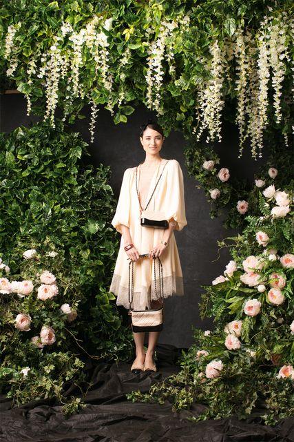 Chanel бежевое платье-пальто