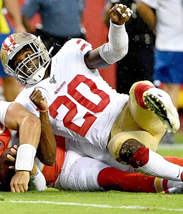 49ers Buccaneers Injury Report Jimmie Ward Jalen Hurd Don T Practice Nick Bosa Expected To Play Sunday Usa Today Sports Nfl Season Knee Injury