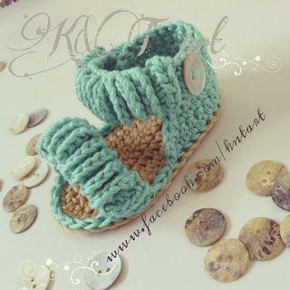 Baby Crochet Sandals - Tutorial  ❥ 4U // hf