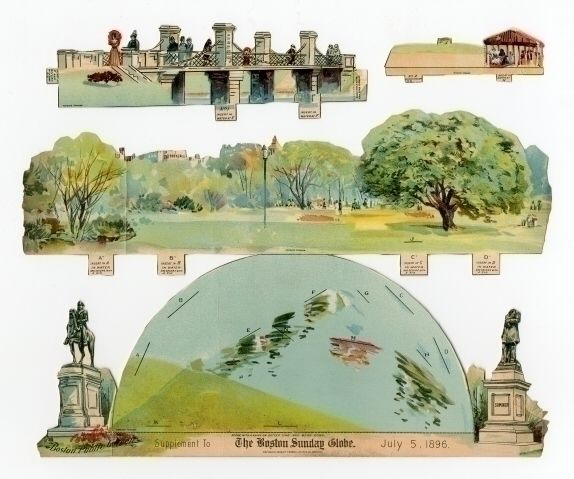 78.6806: Boston Public Garden | paper toy | play set | Play Sets | Toys | Online Collections | The Strong
