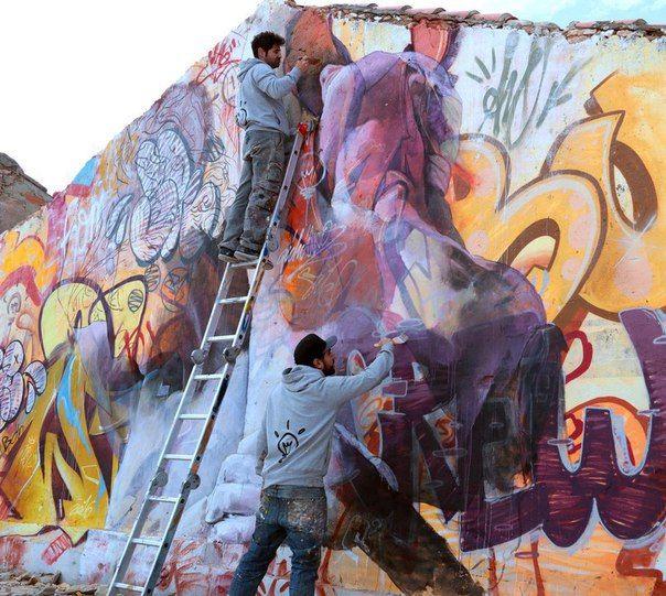 Best ФОТО Images On Pinterest Urban Art Paintings And Greek - Beautiful giant murals greek gods pichi avo