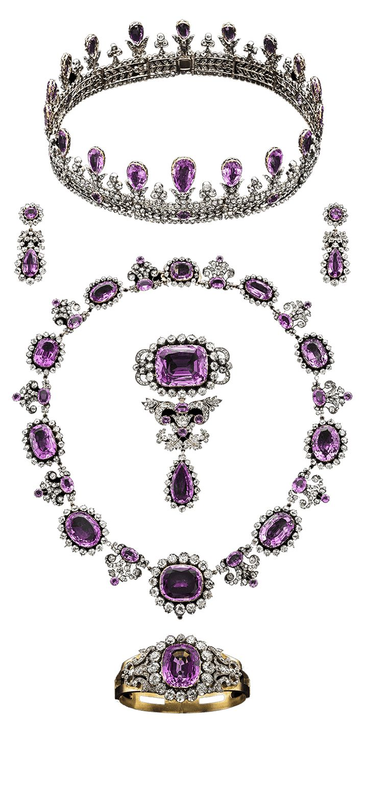 Amythest parure - Sweden's royal jewels......AND my birthstone...love it/them :)
