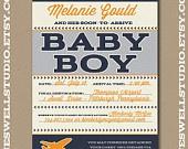 Airplane Vintage Airline Baby Shower DIY Printable Baby Shower Invitation