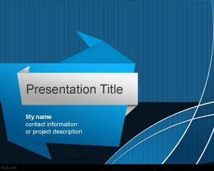 Origami PowerPoint Template, paper effect #powerpoint #background