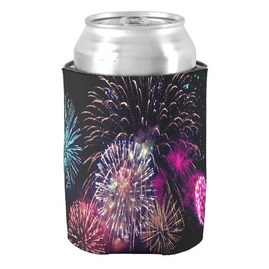 Fireworks Custom Can Cooler | Zazzle com | Designs By Carita