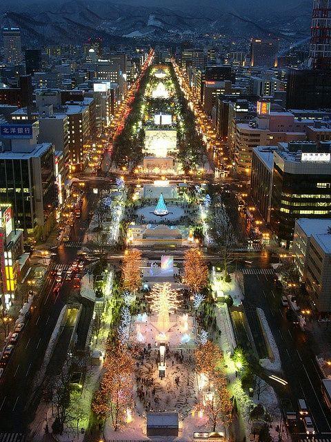 "hope-in-the-lights-of-big-cities: "" Sapporo Snow Festival, Hokkaido, Japan """