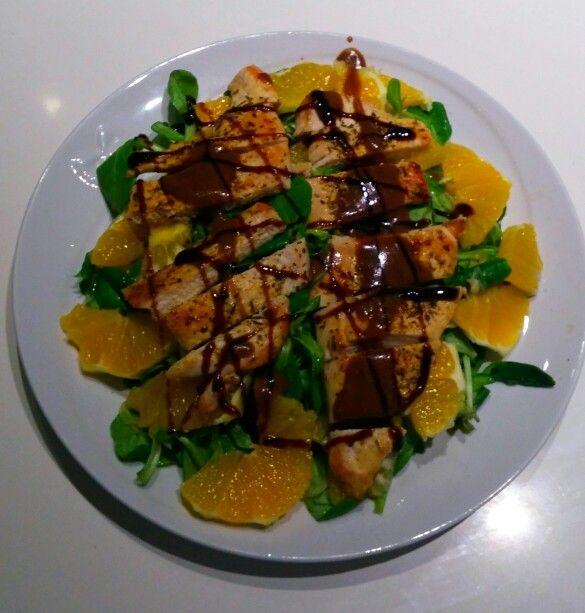 Insalata di pollo con arance