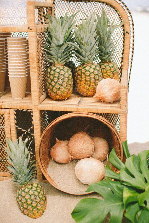 pineapple decor   via: 100 layer cake