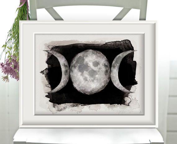 #Mondphasen #Schwarz #Poster #Print #Kunstdruck #artwork #Kunst #Sammlerstücke #Drucke #ArsMagna #watercolor #watercolour #Wandkunst #Wallart #Wanddekoration #Druck #Universum #Mondphasen #moon #Sterne #Himmel #Vollmond #darkart #wicca #witch #vollmond #fullmoon #homedecor #posters #design #blckandwhite #doom #goth #göttin #luna #pagan #naturreligion #witchcraft #occult #alchemy