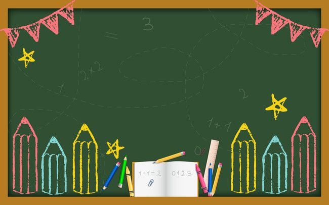 Creative Cartoon Blackboard Welcome New Student Background Material Powerpoint Background Design Math Wallpaper Education Poster Design