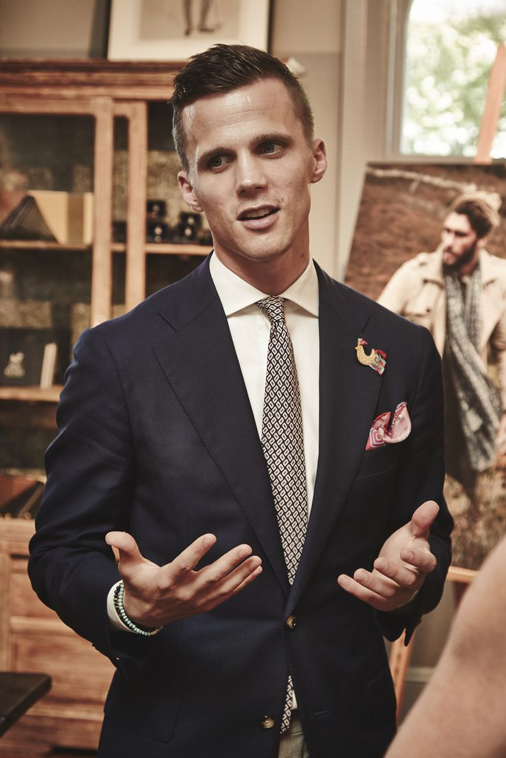 Drew Hoare from M.J. Bale at the Autumn/Winter 2015 Press Launch.