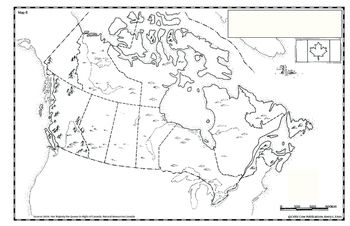 Map of Canada #6 is one of the maps in the Mapping Canada series of blackline masters for student use.