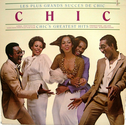 Chic's Greatest Hits, inc: 'Le Freak', 'Good Times', 'Dance, Dance, Dance (Yowsah Yowsah Yowsah)' 'Everybody Dance'. Original group members: Bernard Edwards, Norma Jean Wright, Nile Rodgers, Luci Martin & Tony Thompson.