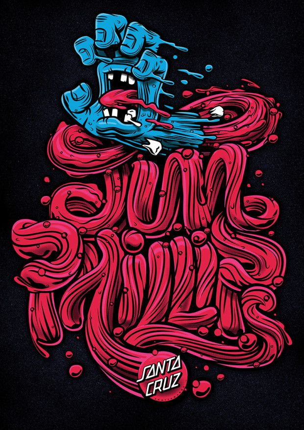 Santa Cruz 30 Years of the Screaming hand #typography #skateboard #santacruz