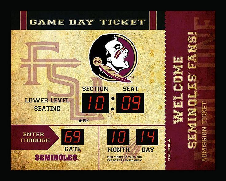 Florida State Seminoles Scoreboard Wall Clock