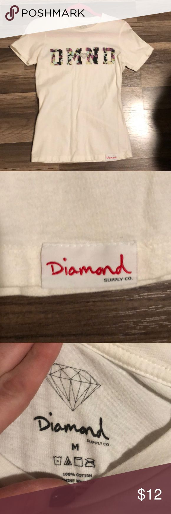 DIAMOND SUPPLY COMPANY WOMENS T SHIRT M Like new, only worn a few times. No stains or rips. Diamond Supply Co. Tops Tees - Short Sleeve