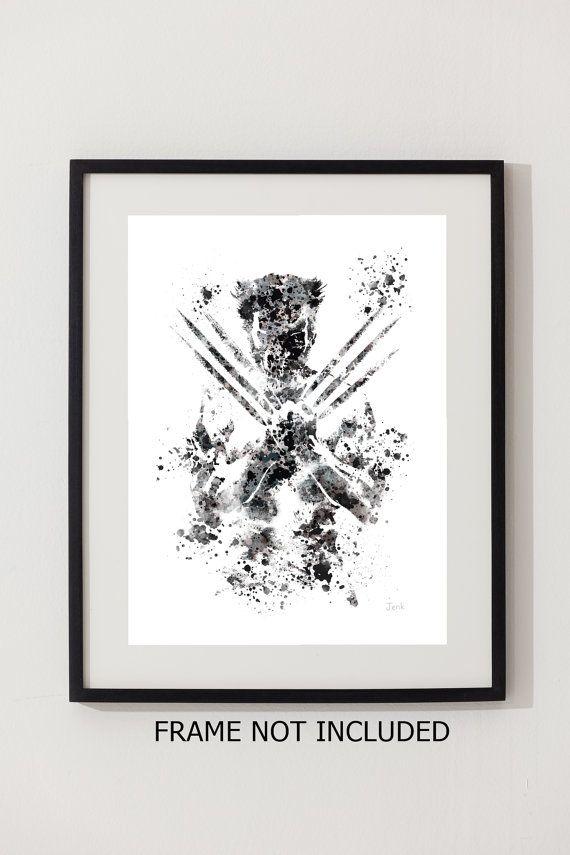 Wolverine ART PRINT 10 x 8 illustration XMen Marvel by SubjectArt