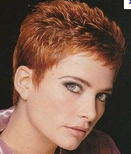 I've pretty much got this haircut, but my hair is salt & pepper with a white part in the front.  I love it short like this!