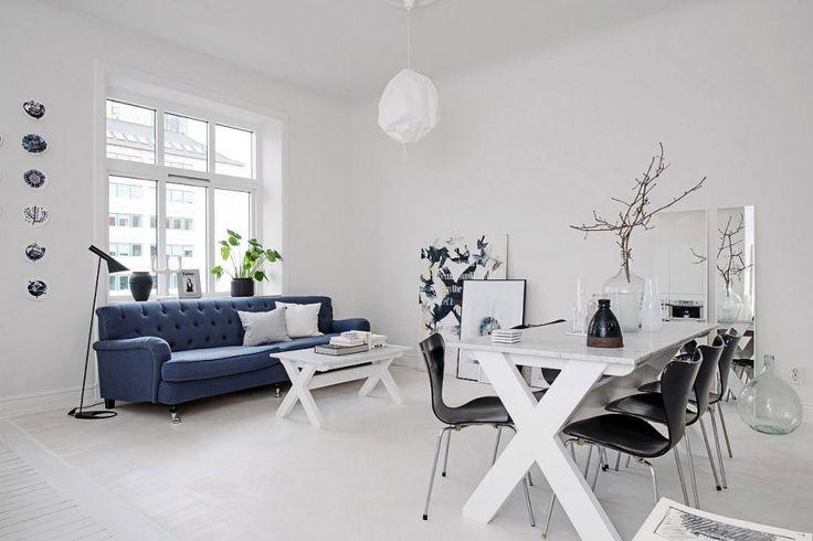 Stylish in White: Scandinavian Loft on Skånegatan