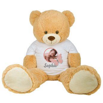 Kuscheltier Großer Teddybär - personalisierter Teddy mit deinem Namen oder Foto #Teddy #personalisiert #Geschenk