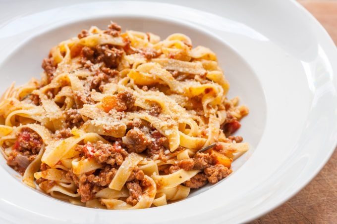 HOMEMADE PASTA WITH BOLOGNESE SAUCE