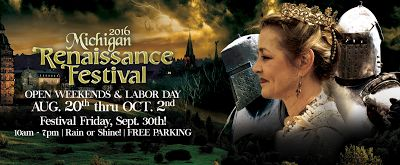 Michigan Renaissance Festival Ticket Giveaway!! Festival Opens August 20th! Enter to Win Tickets Now - Ends 8/15 (5 WINNERS) #MichRenFest2016  http://couponsavvysarah.blogspot.com/2016/08/michigan-renaissance-festival-ticket.html