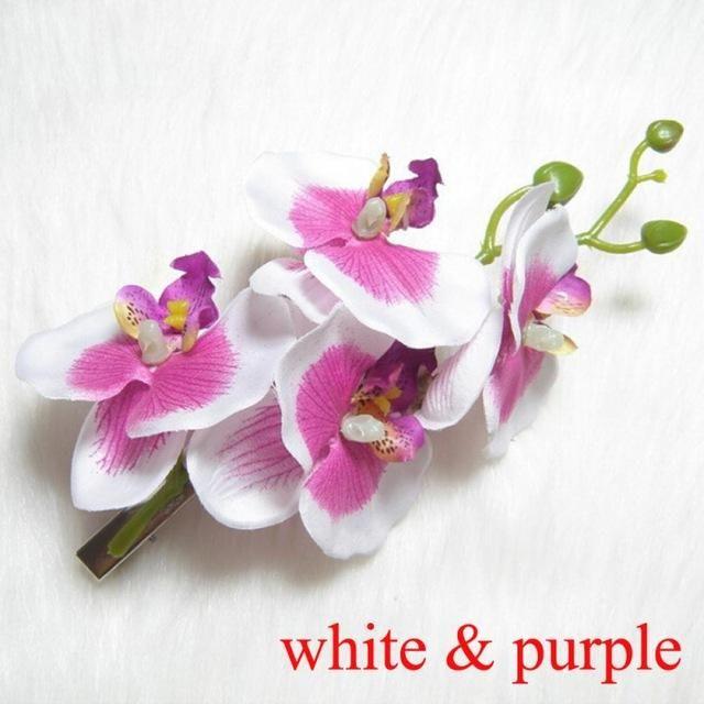 Silk Orchid Flower Hair Clip Flowers In Hair Bridal Hair Pins Silk Orchids